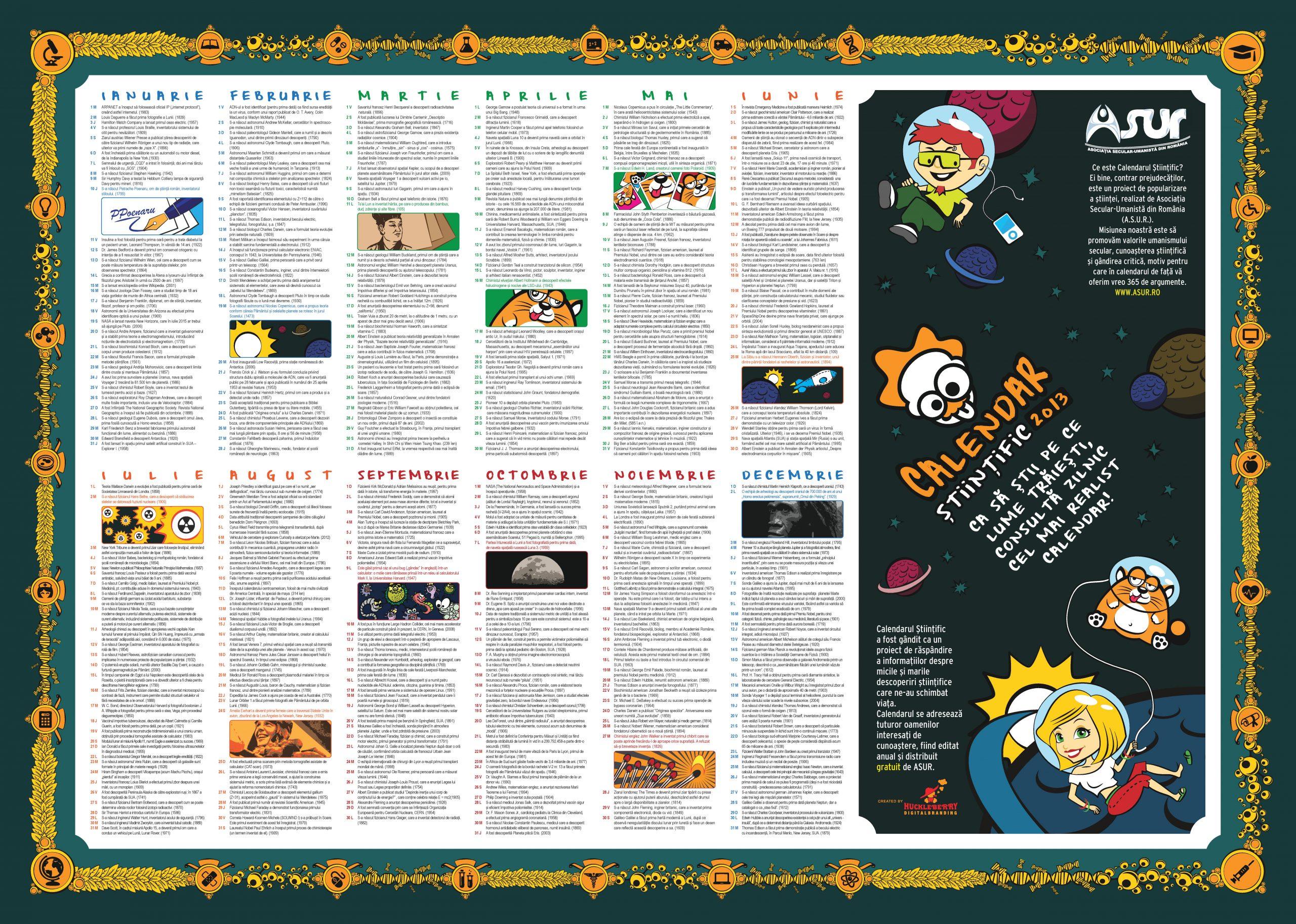 calendar stiintific 2013