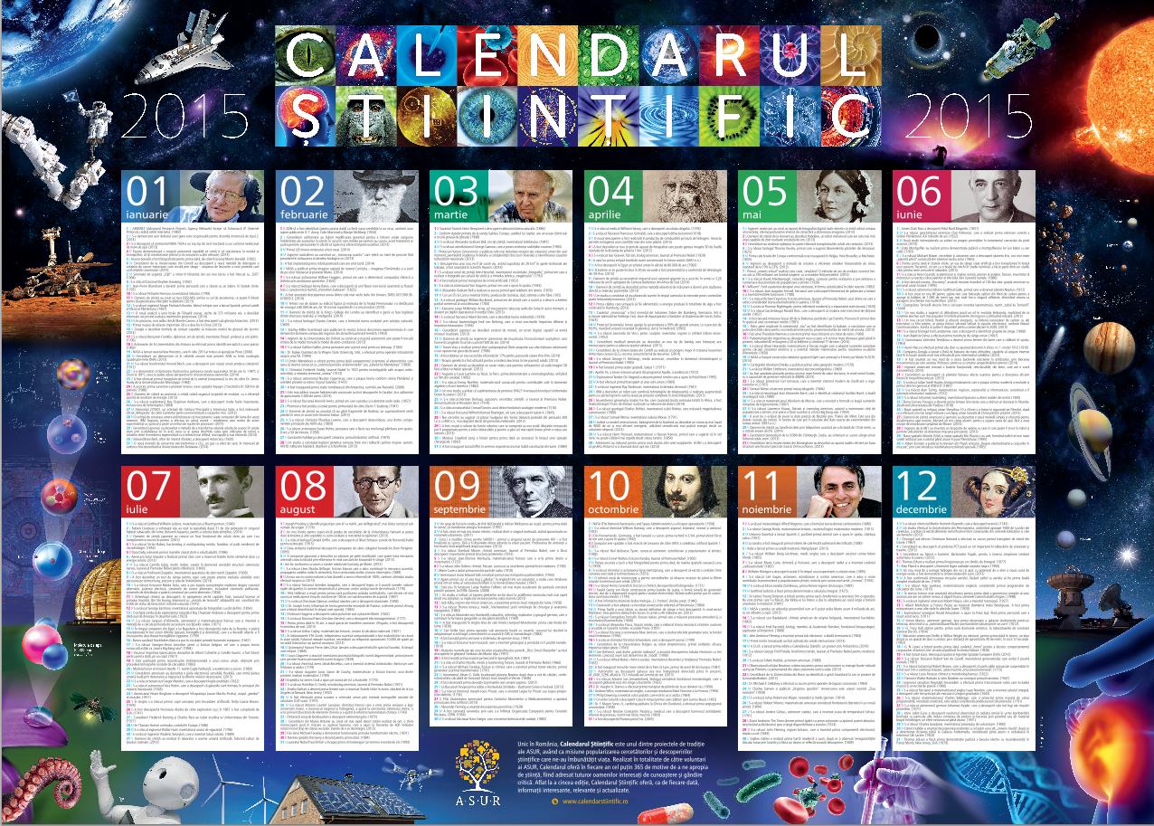calendar stiintific 2015