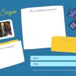 Activitate pentru elevi - Carl Sagan