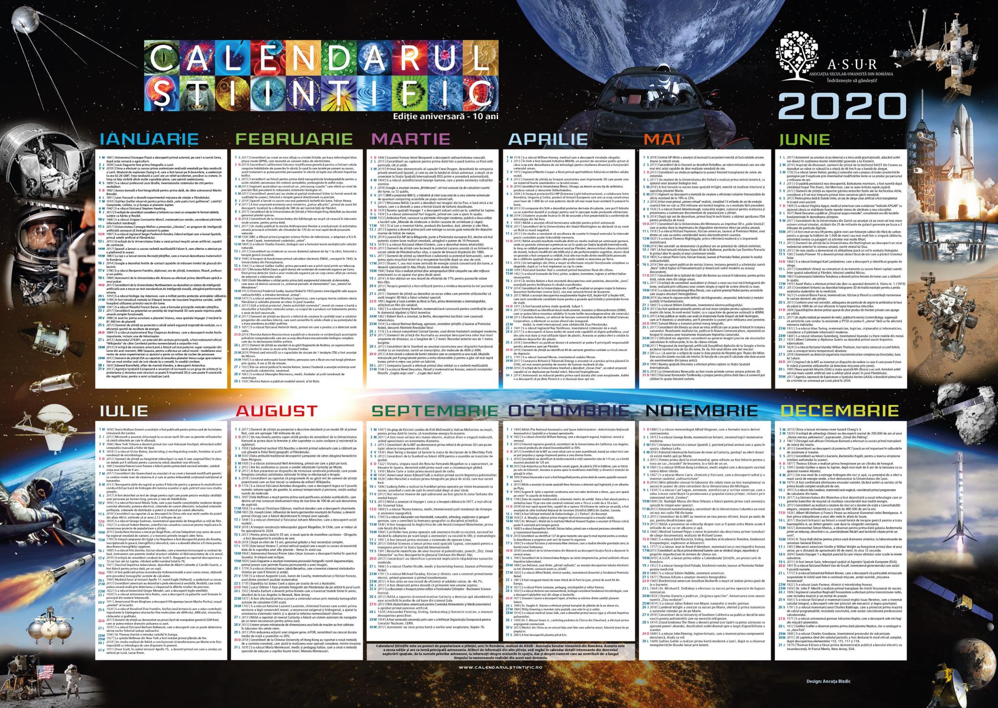 calendar stiintific 2020