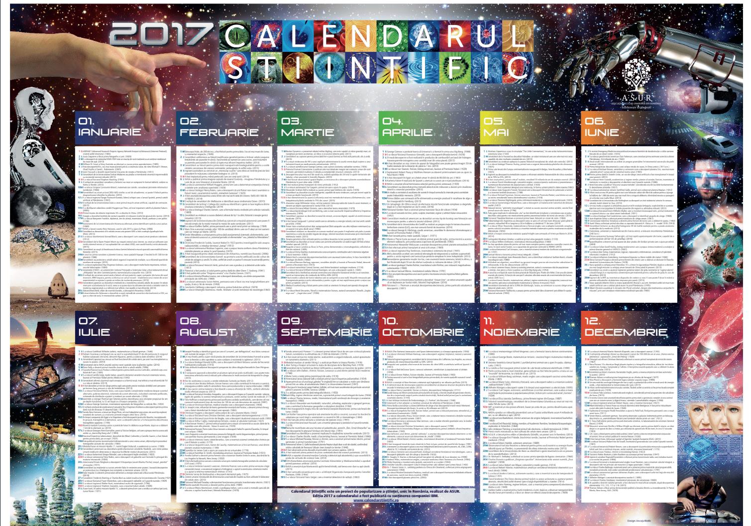 calendar stiintific 2017